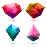 Colorful abstract crystals set. Vector. Colorful abstract glass gemstones crystals set. Vector illustration. Good for logo design vector illustration