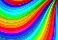 Colorful abstract curve stripe background. 3d illustration Royalty Free Stock Images