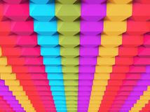 Colorful Abstract 3d Blocks Background Stock Photography