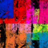 Colorful abstract design. A colorful, abstract background or wallpaper with various thin, colored rectangles appearing on black.  Colored rectangles appear thin Stock Images
