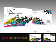 Colorful abstract design business card, illustrati Royalty Free Stock Image