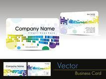 colorful abstract design visiting card Royalty Free Stock Images