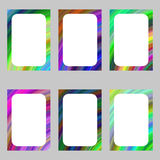 Colorful abstract digital art brochure frame set Royalty Free Stock Image