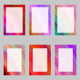 Colorful abstract digital art brochure frame set Stock Image
