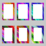 Colorful abstract digital art brochure frame set Royalty Free Stock Photos