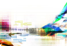 Colorful abstract digital background Royalty Free Stock Photo