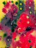 Colorful abstract digital painting. On canvas texture stock illustration