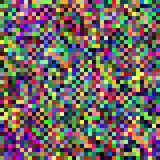 Digital Pixel Quilted Abstract Background. A colorful abstract digital pixel background design Royalty Free Stock Photos