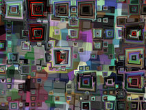 Colorful abstract distorted squares background texture Stock Photos