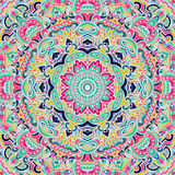 Colorful abstract doodle mandala pattern Stock Image