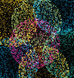 Colorful abstract dotted background Stock Photos
