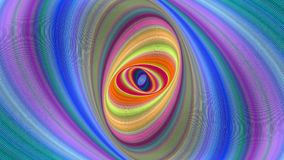 Colorful abstract ellipse spiral background - seamless loop motion graphic. Design stock footage