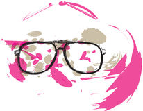 Colorful abstract Eyeglasses illustration Royalty Free Stock Images