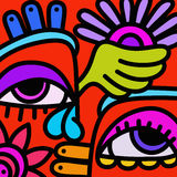 Colorful abstract eyes Royalty Free Stock Photos