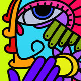 Colorful abstract face Royalty Free Stock Image