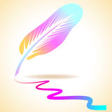 Colorful abstract feather Stock Photos