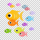 Colorful Abstract Fish Illustration Royalty Free Stock Photography