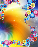 Colorful abstract floral background. Suitable for any design royalty free illustration