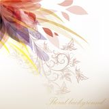 Colorful abstract floral background for design Stock Photo