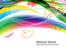 Colorful abstract with floral design Stock Photography
