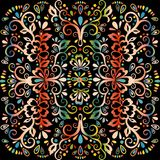 Colorful abstract floral pattern, vector wicker ornament. Multicolor ornate tracery in eastern style with a lot of curls, arabesqu. E, decor element, print Stock Photos