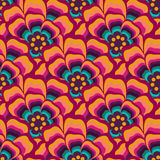Colorful abstract floral seamless pattern. For fabric and wallpaper Royalty Free Stock Photography