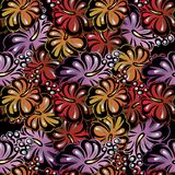 Colorful abstract floral seamless pattern. Vector flowers backgr. Ound Stock Photo