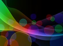 Colorful Abstract Floral Wave Background Stock Photography