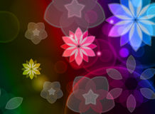 Colorful Abstract Floral Wave Background Stock Images