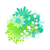 Colorful abstract flower background. Spring or summer design. Decorative flowers.Vector nature illustration. EPS-10 Royalty Free Stock Photography