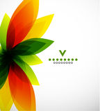 Colorful abstract flower design template Stock Photography