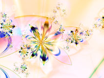 Colorful Abstract Flower Fractal Background Stock Photo