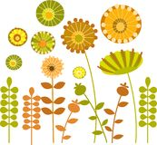 Colorful abstract flower garden -1 vector illustration