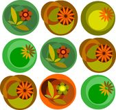 Colorful abstract flower garden pattern royalty free illustration