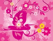 Colorful Abstract Flower and Line Background  Big royalty free illustration