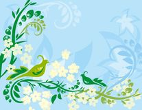 Colorful Abstract Flower and Line Background  Big stock illustration