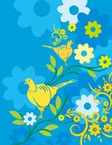 Colorful Abstract Flower and Line Background  Big vector illustration