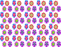Colorful abstract flower seamless pattern background. Seamless pattern with colorful flower on white background Stock Photo