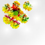 Colorful abstract flowers background Royalty Free Stock Photos
