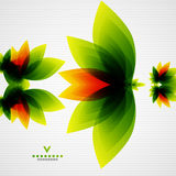 Colorful abstract flowers template Stock Photography