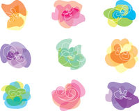 Colorful Abstract Flowers Royalty Free Stock Photo