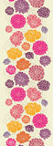 Colorful abstract flowers vertical seamless Royalty Free Stock Photo