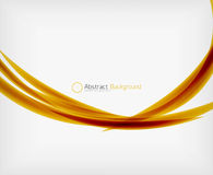Colorful abstract flowing elegant lines Stock Images