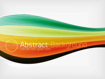 Colorful abstract flowing elegant lines Royalty Free Stock Images