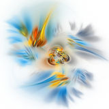Colorful abstract fractal illustration Royalty Free Stock Images