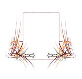 Colorful Abstract Frame Elemen. Colorful Abstract Frame on white background royalty free illustration