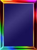 Rainbow Picture Frame stock photos