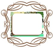 Colorful abstract frame isolated Stock Image