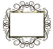 Colorful abstract frame isolated Royalty Free Stock Images