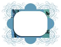 Colorful abstract frame isolated Stock Photo